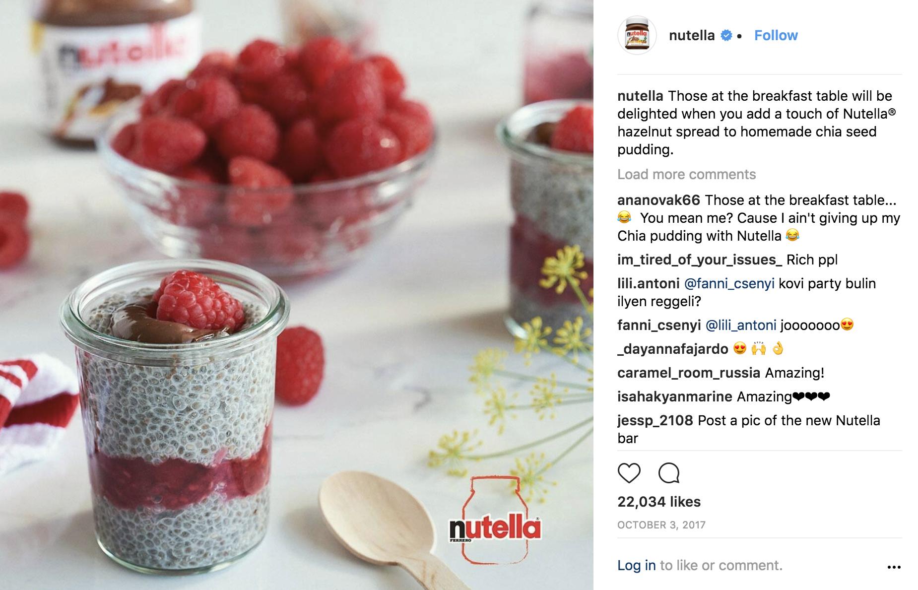 Nutella Instagram